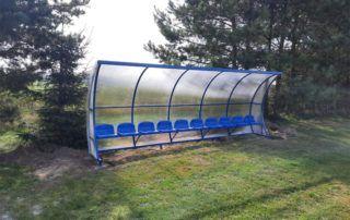 Wiaty stadionowe - wersja niebieska