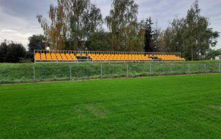 Trybuny sportowe żółte