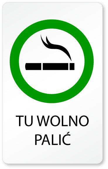 Znaczek palarni - tu wolno palić